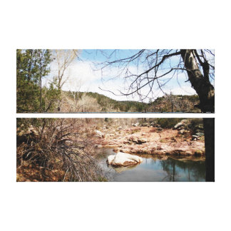 Burnt Creek 2 Stacked Wrapped Canvas Gallery Wrap Canvas