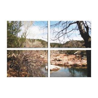 Burnt Creek Premium Quad Wrapped Canvas Canvas Prints