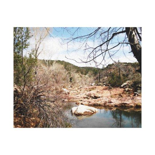 Burnt Creek Premium Wrapped Canvas Stretched Canvas Prints