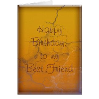 Burnt Gold Birthday Greeting Card