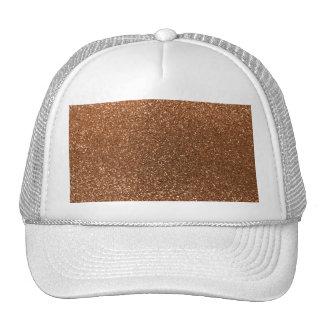 Burnt gold glitter trucker hat