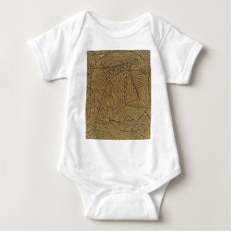 Burnt Gold Rough Start Baby Bodysuit