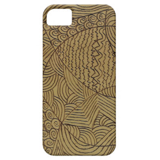Burnt Gold Rough Start iPhone 5 Cover