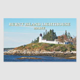 Burnt Island Lighthouse, Maine Stickers
