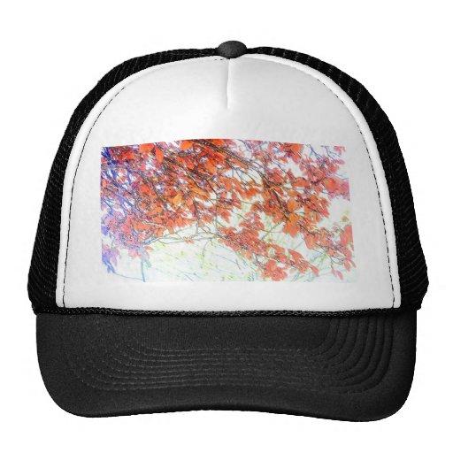 Burnt Ochre Pastels Tree Trucker Hat