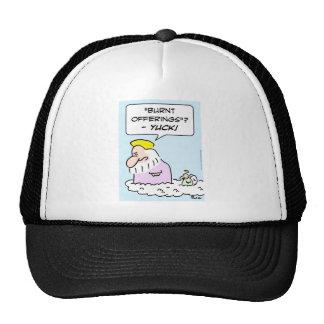 burnt offerings yuck god angel trucker hat