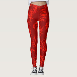 Burnt Orange Abstract Leggings