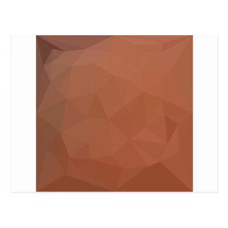 Burnt Orange Abstract Low Polygon Background Postcard