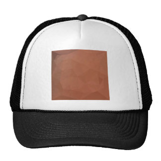 Burnt Orange Abstract Low Polygon Background Trucker Hat