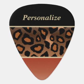 Burnt Orange and Black Jaguar | Personalize Guitar Pick
