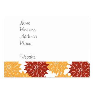 Burnt Orange and Orange Flower Blossoms Flora Large Business Cards (Pack Of 100)