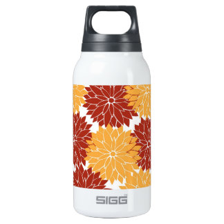 Burnt Orange and Orange Flower Blossoms Flora SIGG Thermo 0.3L Insulated Bottle