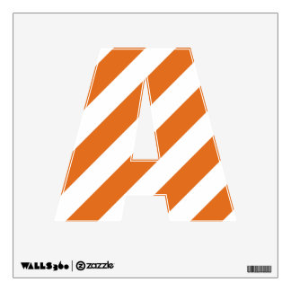 Burnt Orange and White Letter A Decal