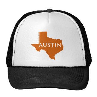 Burnt Orange Austin Texas Trucker Hat