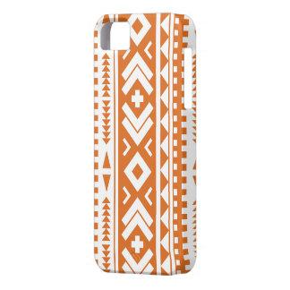 Burnt Orange Aztec Print Phone Case