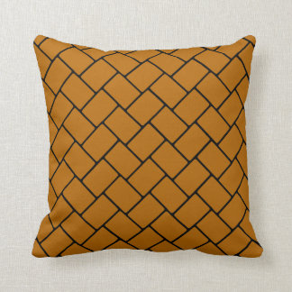 Burnt Orange Basket Weave 2 Throw Pillow
