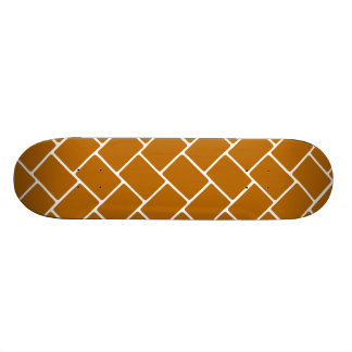 Burnt Orange Basket Weave Custom Skate Board