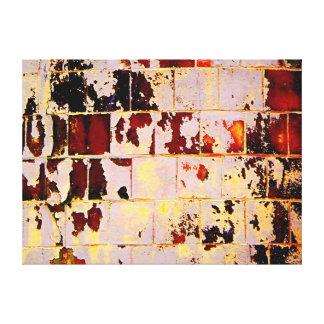 Burnt orange bricks gallery wrap canvas