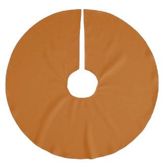 Burnt Orange Brushed Polyester Tree Skirt