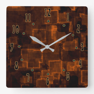 Burnt Orange by Julie Everhart Square Wall Clock