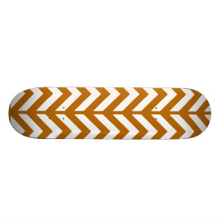 Burnt Orange Chevron 3 Skate Deck