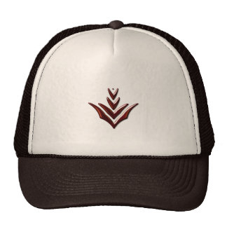 Burnt Orange Chevron hat