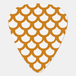 Burnt Orange Fish Scale 1 Guitar Pick
