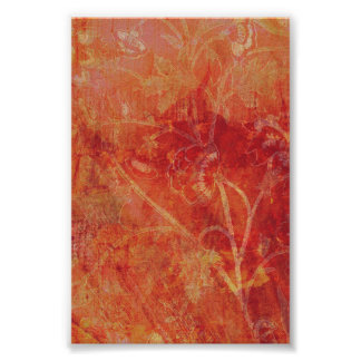 Burnt Orange Flower Field Background Print