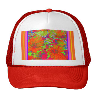 Burnt Orange Garden Leaves Gifts by Sharles Trucker Hat