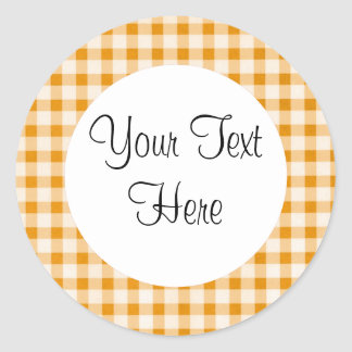 Burnt Orange Gingham Sticker