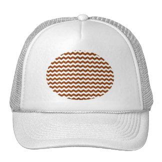 Burnt orange glitter chevrons trucker hat
