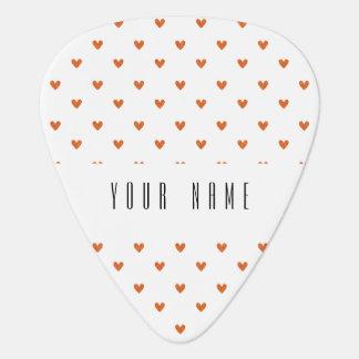 Burnt Orange Glitter Hearts Pattern Pick
