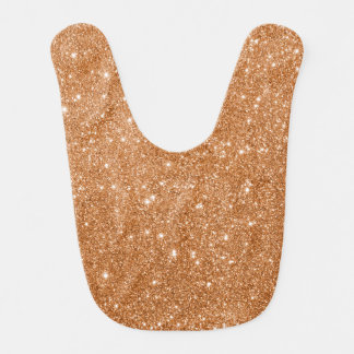 Burnt Orange Glitter Sparkles Bib