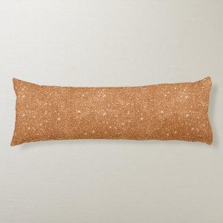 Burnt Orange Glitter Sparkles Body Pillow