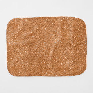 Burnt Orange Glitter Sparkles Burp Cloth