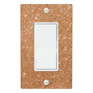 Burnt Orange Glitter Sparkles Light Switch Cover