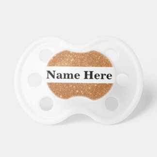 Burnt Orange Glitter Sparkles Pacifier