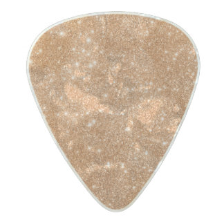 Burnt Orange Glitter Sparkles Pearl Celluloid Guitar Pick