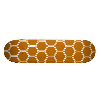 Burnt Orange Hexagon 1 Skate Decks