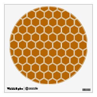 Burnt Orange Hexagon 1 Wall Sticker