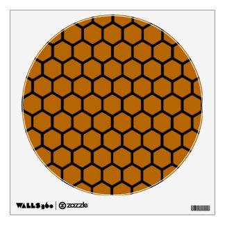 Burnt Orange Hexagon 4 Wall Decal