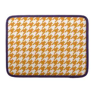 Burnt Orange Houndstooth 1 MacBook Pro Sleeves