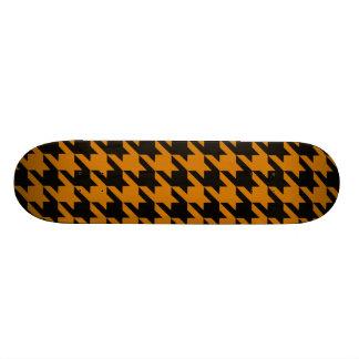 Burnt Orange Houndstooth 2 Skate Deck