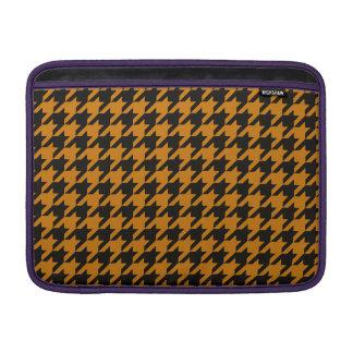 Burnt Orange Houndstooth 2 Sleeves For MacBook Air
