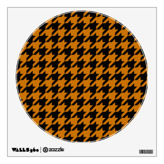 Burnt Orange Houndstooth 2 Wall Decal