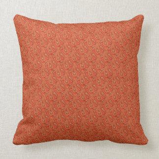 "Burnt Orange-Maroon Paisley/Brnt Orange 20"" Pillow"