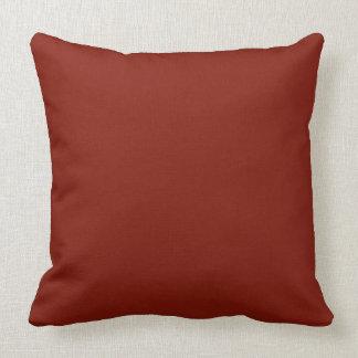 "Burnt Orange-Maroon Two-Tone 20"" Pillow"