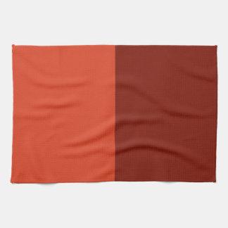 Burnt Orange-Maroon Two-Tone Kitchen Towel