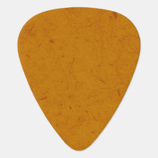 Burnt Orange Papyrus Guitar Pick