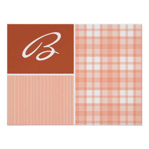 Burnt Orange, Peach Print